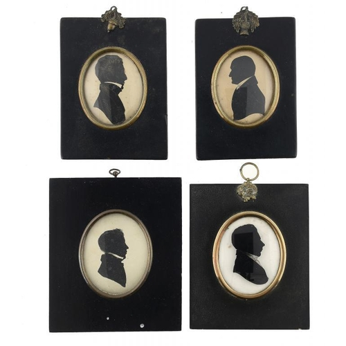 685 - <p>BRITISH PROFILIST, EARLY 19TH C  SILHOUETTES OF GENTLEMEN OF THE SHAND FAMILY   one identified as...