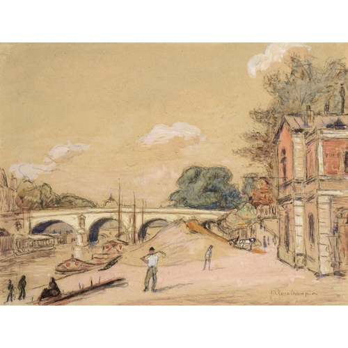 696 - <p>��JOSEPH VICTOR ROUX CHAMPION (1871-1953) RIVER SCENES  two, both signed, one dated 1903, waterco...