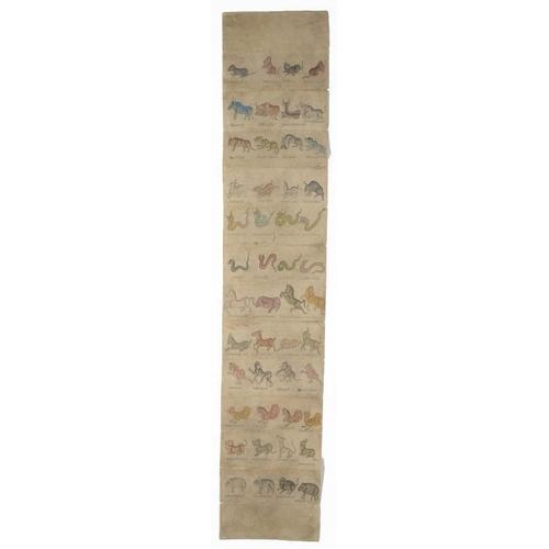 698 - <p>THAI ARTIST , 19TH CENTURY  THREE ILLUSTRATED DIVINATION MANUSCRIPTS WITH ANIMALS AND DEITIES  pe...