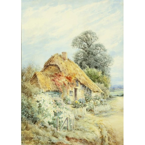 701 - <p>��ALEXANDER MOLYNEUX STANNARD (1878-1975) KENTISH COTTAGES a pair,  both signed, watercolour, 34 ...