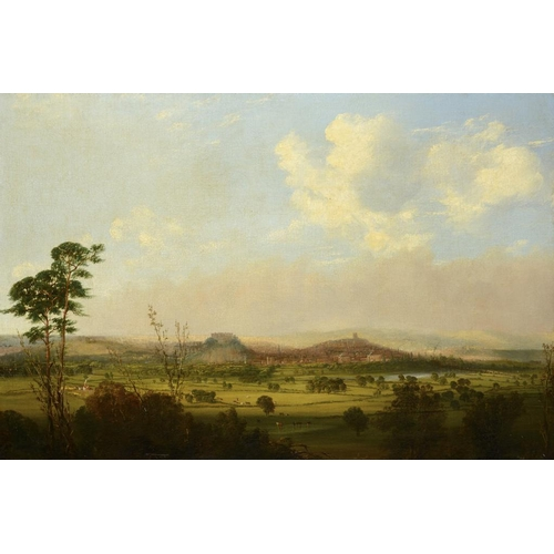734 - <p>HENRY SMYTH  (FL MID 19TH C) VIEW OF NOTTINGHAM FROM THE WILFORD HILLS  signed and dated 1846, oi...