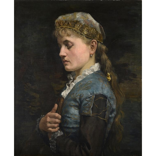 738 - <p>WILLIAM ARTHUR BREAKSPEARE (1855-1914) DAY DREAMING  signed and dated '79, oil on canvas, 60 x 49...