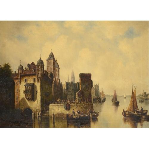 805 - <p>AUGUST OLSEN, 19TH CENTURY  UTRECHT  signed August Olsen artist Utrecht on the stretcher, oil on ...