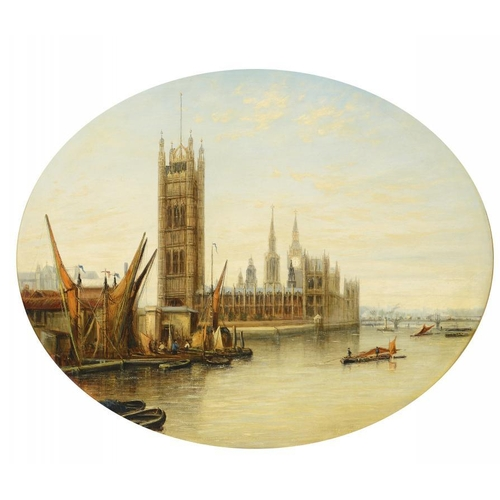 807 - <p>FRANCIS MOLTINO (1818-1872) THE PALACE OF WESTMINSTER; GREENWICH A NOCTURNE a pair, both signed, ...