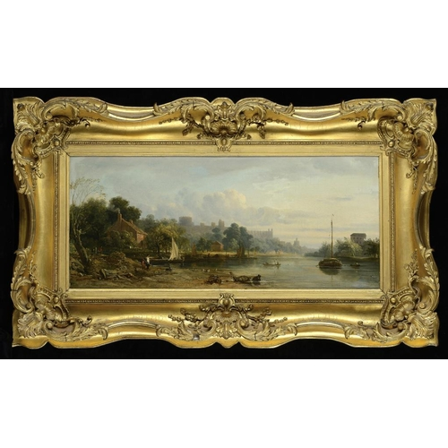 808 - <p>JOHN VARLEY, OWS (1778-1842) WINDSOR; ETON COLLEGE  a pair, one signed, oil on canvas, 30.5 or 31...