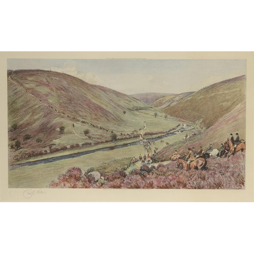 809 - <p>CECIL CHARLES WINDSOR ALDIN, RBA (1870-1935) THE DEVON AND SOMERSET [STAGHOUNDS] OVER BADGWORTHY ...