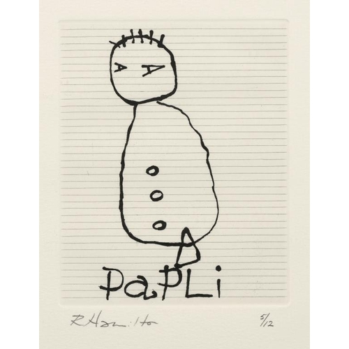 826 - <p>��RICHARD HAMILTON,  CH (1922-2011) PAPLI (RH164) etching, 1988, signed by the artist in pencil a...