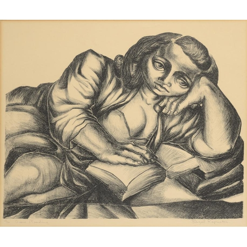 832 - <p>RAZEL KAPUSTIN (1908-1968) DIANE READING   lithograph, signed by the artist,    inscribed and num...
