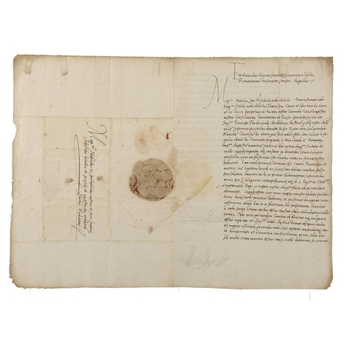 839 - <p>FERDINAND I, HOLY ROMAN EMPEROR (1503-1564) DOCUMENT SIGNED 1 August 1562,  an Order to pay 14,00...