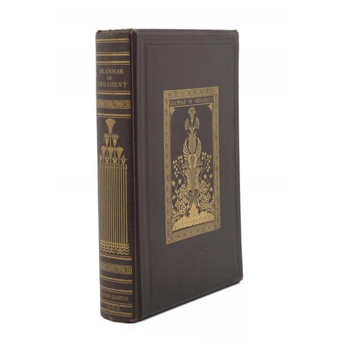 845 - <p>JONES (OWEN) THE GRAMMAR OF ORNAMENT  large 4to,   colour plates with tissue guards and title, ma...