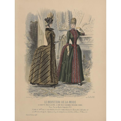 848 - <p>A SMALL COLLECTION OF REGENCY AND VICTORIAN FASHION PLATES FROM THE JOURNAL DEMOISELLES, LA MODE ...