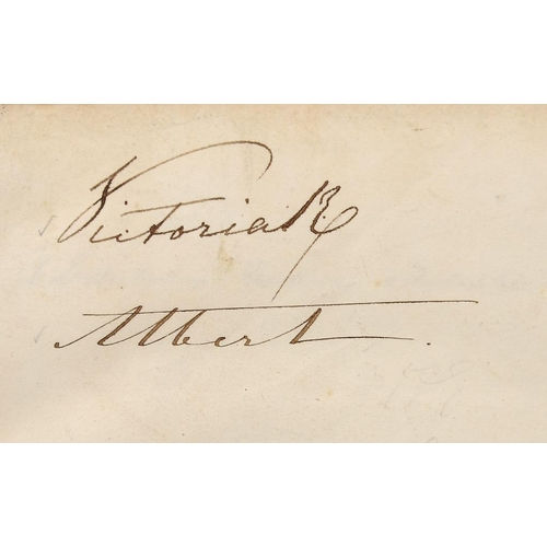 849 - <p>AUTOGRAPHS.  SUBSCRIBERS TO WINTERHALTER'S PORTRAIT OF THE QUEEN an album of 1,200 signatures inc...