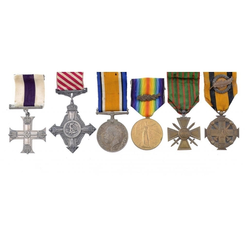861 - <p>WORLD WAR ONE MC AND AFC GROUP OF SIX  Military Cross, Air Force Cross, British War Medal, Victor...