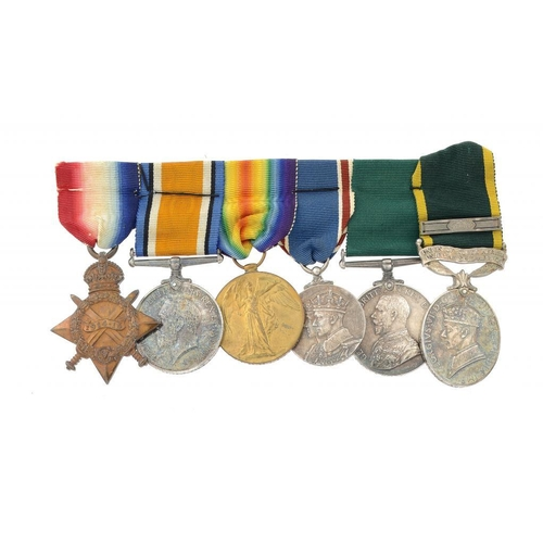 862 - <p>WORLD WAR ONE GROUP OF SIX  1914-15 Star, British War Medal, Victory Medal, Coronation Medal 1936...