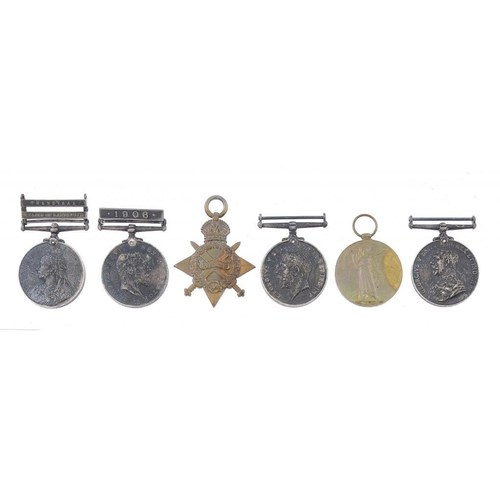 863 - <p>ANGLO BOER WAR GROUP OF SIX  Queen's South Africa Medal, two clasps Transvaal and Relief of Ladys...