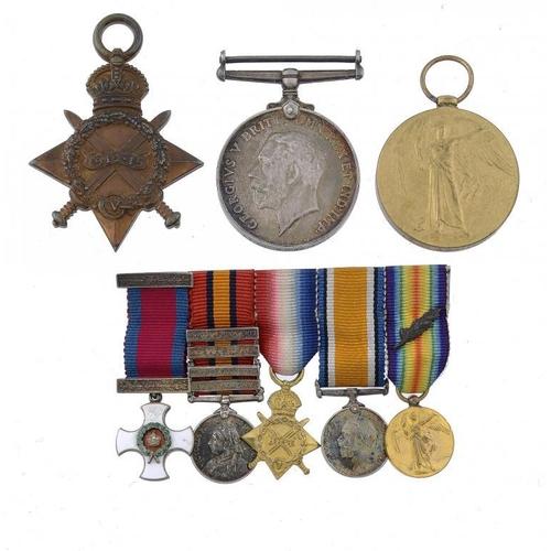 867 - <p>WORLD WAR ONE GROUP OF THREE 1914-15 Star, British War Medal and Victory Medal MAJOR R G KEYWORTH...