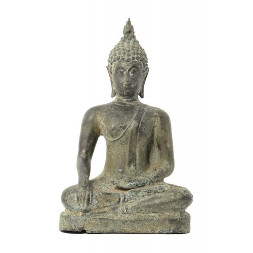954 - <p>A SOUTH EAST ASIAN  BRONZE SCUPTURE OF BUDDHA  35cm h</p><p></p>...