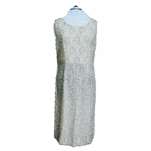 988 - <p>A SUSAN SMALL BEADED NYLON SHIFT WITH BELT, C1960  and two 1960s French West African evening dres...