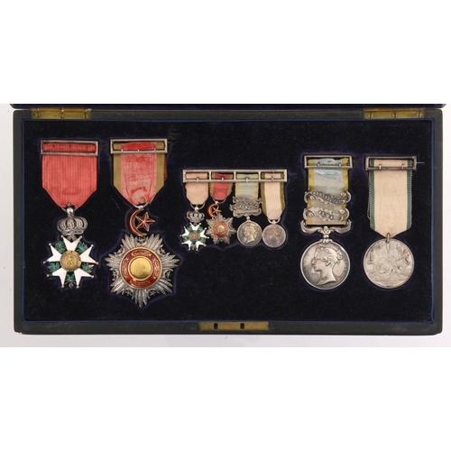 18 - THE ORDER, DECORATION AND MEDALS OF FREDERICK STANLEY CARPENTER (1817-1890) CAPTAIN AND DEPUTY COMMI...