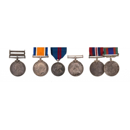 19 - <p>THE MEDALS OF MAJOR FREDERICK NOEL CARPENTER (1881-1955) OF CARREGLWYD comprising Queen's South A...