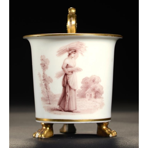 143 - <p>A RARE SWANSEA CABINET CUP DECORATED BY THOMAS BAXTER, 1816-19  finely painted to the front in se...