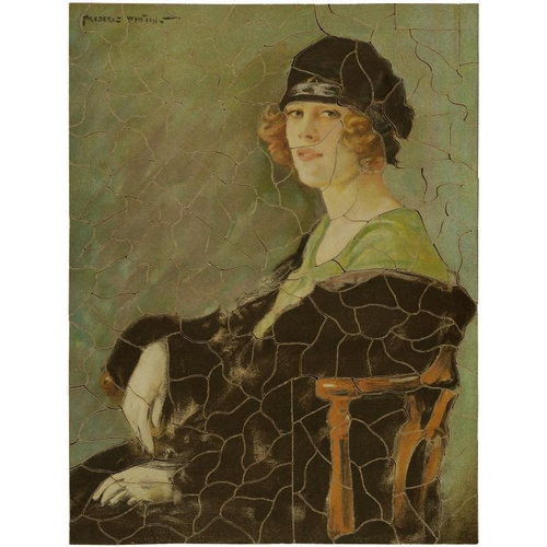 778 - EIGHTEEN VINTAGE WOODEN JIGSAW PUZZLES, C1900-40 subjects including pictures by Frederic Whiting, La...