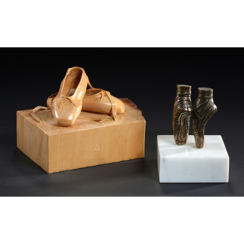 792 - GORDON C BROWN (2OTH/21ST CENTURY) BALLET SHOES   signed, dated 1985 and inscribed Sur les Pointes, ...