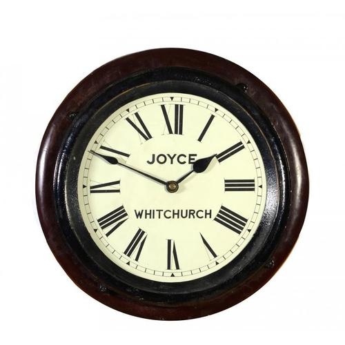 797 - LONDON & NORTH WESTERN RAILWAY.  AN OAK OFFICE AND PLATFORM WALL REGULATOR BY JOYCE OF WHITCHURCH, C...