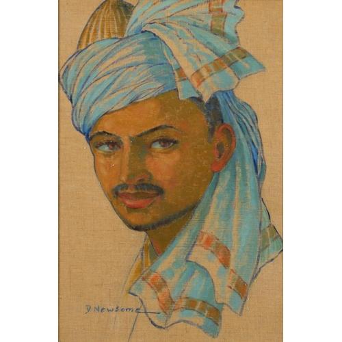 616 - <p>��DOROTHY NEWSOME-GLENN (FL 1930-60S) THE DRUMMER; TWO STUDIES OF INDIAN MEN  all signed, the fir...