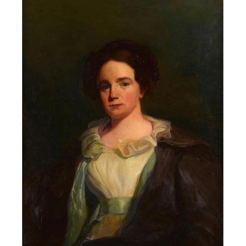 738 - <p>WILLIAM JACOB BAER (1860-1941) PORTRAIT OF PRISCILLA, MRS WILLIAM OSBORN  half length, oil on can...