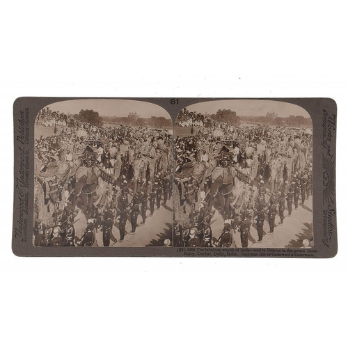 757 - <p>[JAMES RICALTON] THE UNDERWOOD TRAVEL LIBRARY STEREOSCOPIC VIEWS OF INDIA, C1903  36 stereo photo...