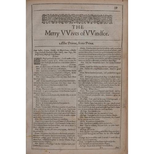 820 - <p>[SHAKESPEARE (W) SECOND FOLIO]. THE MERRY WIVES OF WINDSOR [AND] A MIDSOMMER NIGHTS DREAME [1632]...