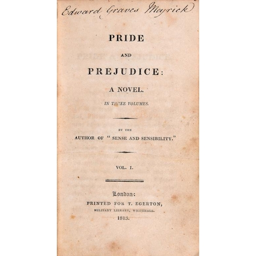 827 - <p>[AUSTEN (JANE)] PRIDE AND PREJUDICE A NOVEL... BY THE AUTHOR OF