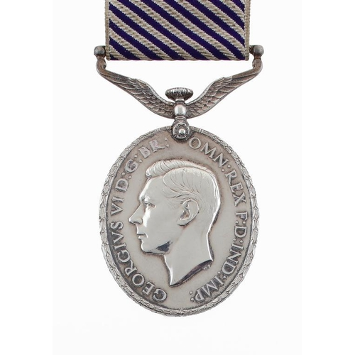 882 - <p>DISTINGUISHED FLYING MEDAL George VI, 550572 SGT J A PATTERSON RAF,  British War Medal and Victor...