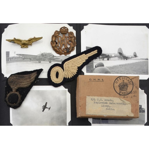 882A - <p>THE WORLD WAR II LOG BOOKS, PHOTOGRAPHS, MEDALS, PAPERS AND WARTIME EPHEMERA OF FLT LT CECIL HARO...