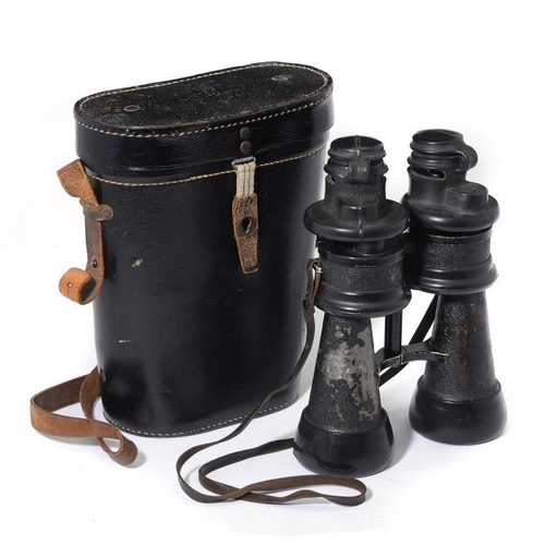 885 - <p>A PAIR OF GERMAN, THIRD REICH, KRIEGSMARINE PRISMATIC 7 x 50 BINOCULARS BY ERNST LEITZ, C1940 mar...