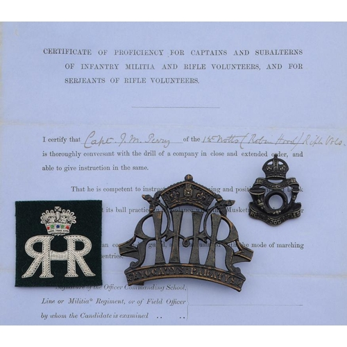887 - <p>A COLLECTION OF BRITISH MILITARIA  including metal and other cap badges, shoulder titles, buttons...