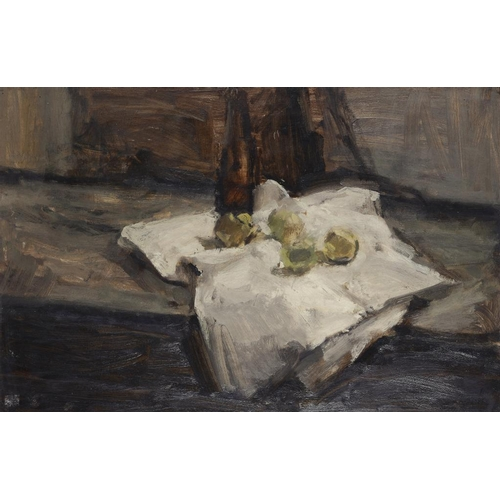 607 - EDWARD TUERSLEY (1933-) STILL LIFE  signed and inscribed verso, oil on hardboard, 61 x 91cm...