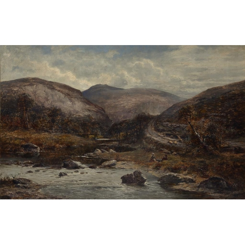609 - WILLIAM E HARRIS (1860-1930) IN THE ABER VALLEY  signed and dated 1880, signed and dated again and i...