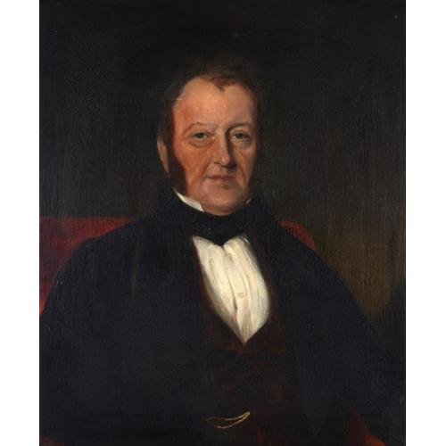 615 - ENGLISH SCHOOL, 19TH CENTURY PORTRAIT OF A GENTLEMAN  bust length, oil on canvas, 75 x 62.5cm...