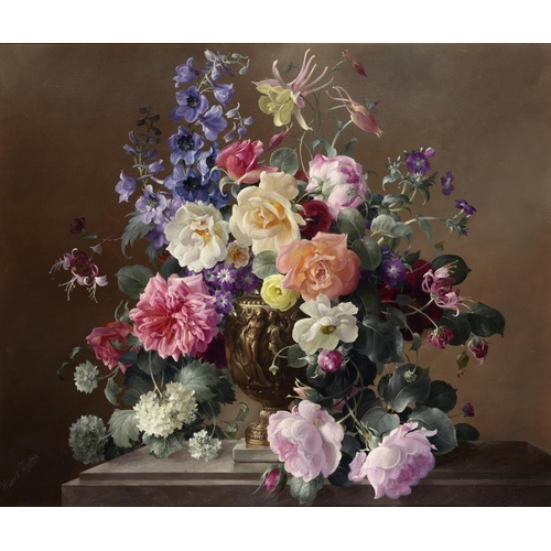 617 - ��HAROLD CLAYTON (1896-1979) CASCADING FLOWERS signed, oil on canvas, 54.5 x 64.5cmProvenance: Frost...