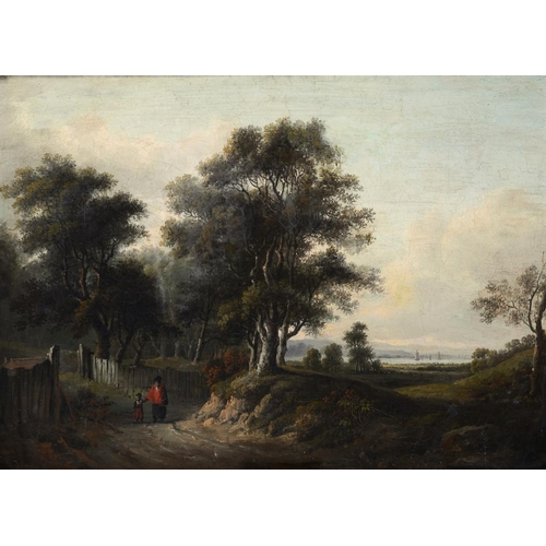 621 - ATTRIBUTED TO ALEXANDER NASMYTH (1758-1840) VIEW FROM BLACKHEATH with signature, title and indistinc...