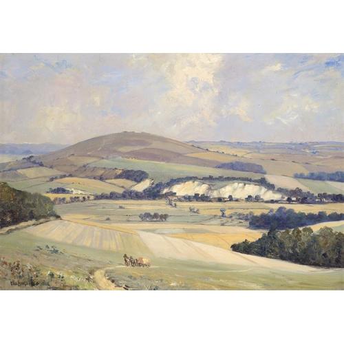 626 - ��WILLIAM FRANCIS LONGSTAFF (1879-1953) AN EXTENSIVE LANDSCAPE  signed, oil on canvas, 49 x 69.5cm...