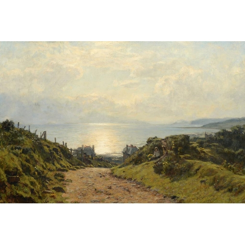 627 - DUNCAN CAMERON (1837-1916) THE COAST OF SCOTLAND  signed and dated 1900, oil on canvas, 49 x 74cm...
