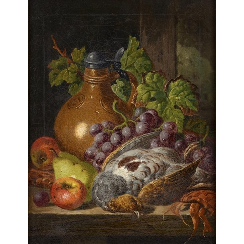 630 - CHARLES THOMAS BALE (1849-1925) STILL LIFE WITH AN OIL JAR; STILL LIFE WITH A RENNISH JUG two, both ...
