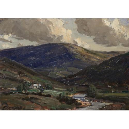 636 - JAMES HUMBERT CRAIG, RHA (1877-1944) DRUMFASKY GLENDUN   signed, inscribed verso, oil on board, 30 x...