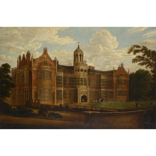 637 - HILTON LARK PRATT (1838-1875) INGESTRE HALL STAFFORDSHIRE  signed and dated 1842, oil on canvas, 88 ...