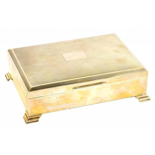 513 - AN ELIZABETH II SILVER CIGARETTE BOX  cedar lined, 17.5cm wide, by J B Chatterton & Sons Ltd, Birmin...