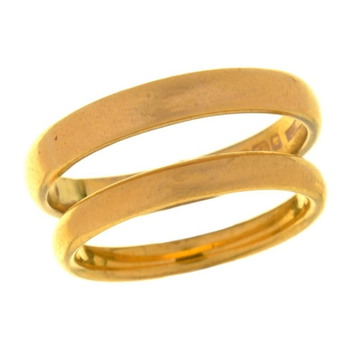6 - <p>TWO 22CT GOLD WEDDING RINGS, BIRMINGHAM 1929 AND 1933, 10.5G, SIZES 0� AND U</p><p></p>...