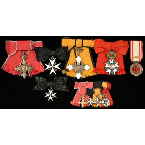 298 - <p>THE MOST EXCELLENT ORDER OF THE BRITISH EMPIRE (O.B.E), AS WORN BY A LADY, ORDER OF ST. JOHN, AND...